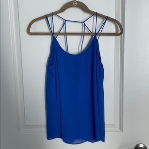 Blue Strappy Tank Top